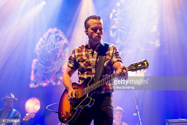 Jimbo Hart Jason Isbell and Chad Gamble perform at The Joy Theater on October 22 2016 in New Orleans Louisiana