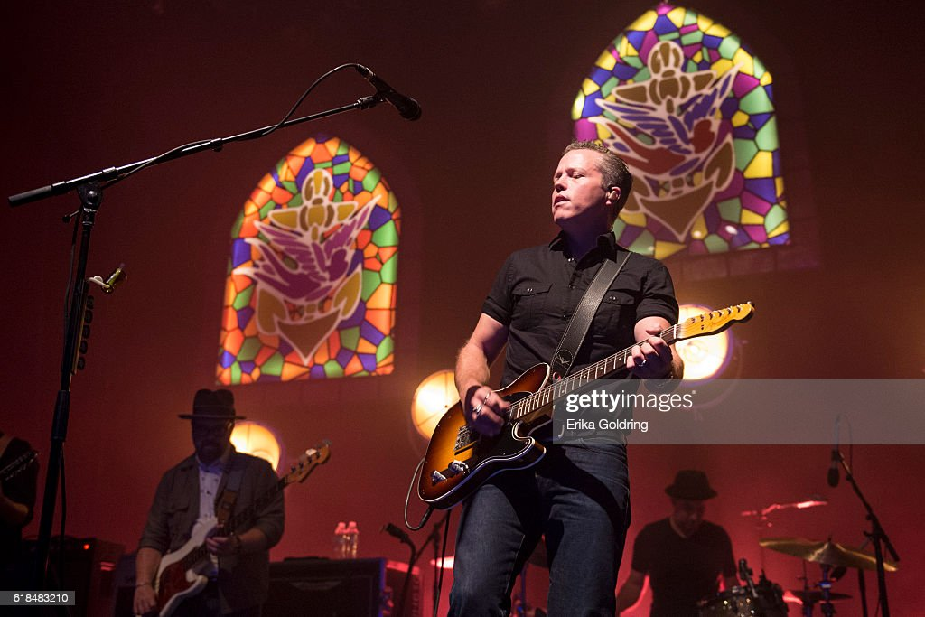 Jimbo Hart, Jason Isbell and Chad Gamble perform at The Joy Theater on October 23, 2016 in New Orleans, Louisiana.