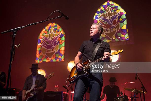 Jimbo Hart Jason Isbell and Chad Gamble perform at The Joy Theater on October 23 2016 in New Orleans Louisiana