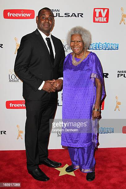 Jimi Bani and Bonita Mabo arrives at the 2013 Logie Awards at the Crown on April 7 2013 in Melbourne Australia