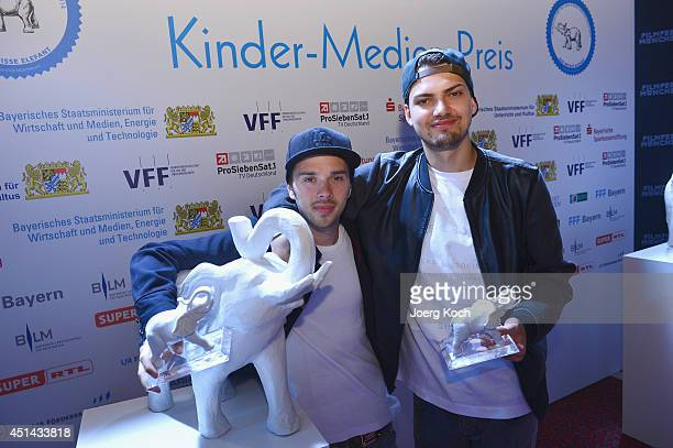 Jimi Blue Ochsenknecht and Mitja Lafere attend 'DER WEISSE ELEFANT' Event at Gasteig on June 29 2014 in Munich Germany They were awarded for their...
