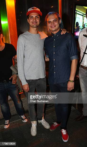 Jimi Blue Ochsenknecht and Wilson Gonzalez Ochsenknecht attend Music Meets Media 2013 at Grand Hotel Esplanade on September 5, 2013 in Berlin,...