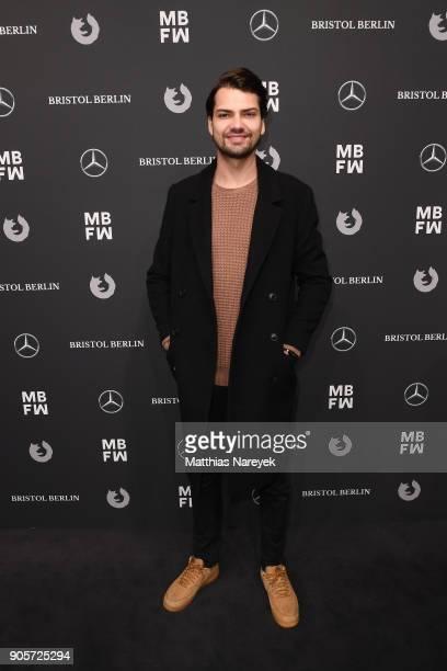 Jimi Blue Ochsenknecht attends the MercedesBenz ELLE present Callisti show during the MBFW Berlin January 2018 at ewerk on January 16 2018 in Berlin...