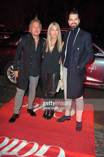 Jimi Blue Ochsenknecht his father Uwe Ochsenknecht and his wife Kirsten Kiki Viebrock attend the Berlin Opening Night by GALA UFA Fiction during 69th...