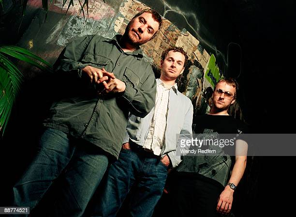 Jimi Goodwin Andy Williams and Jez Williams of Doves pose for a group shot on 1 October 29 2002 in Los Angeles California