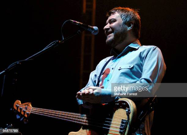 Jimi Goodwin of Doves performs at Manchester Central on December 18, 2009 in Manchester, England.