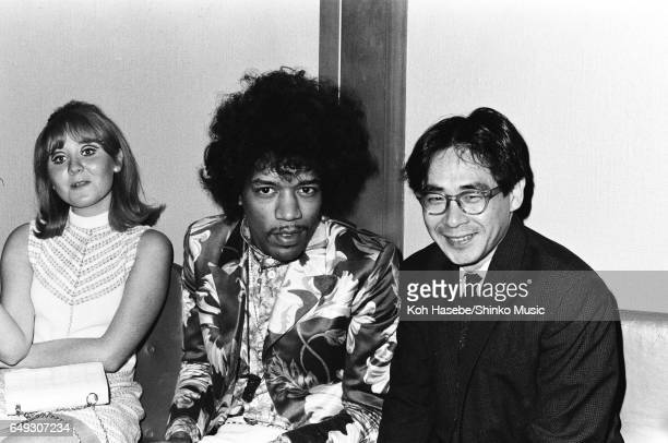 Jimi Hendrix and Lulu with Koh Hasebe at Melody Maker Pop Poll Awards Reception Party September 16th 1967