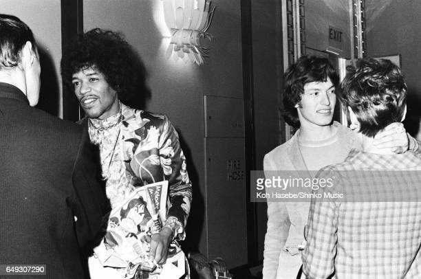 Jimi Hendrix and Steve Winwood at Melody Maker Pop Poll Awards Reception Party September 16th 1967