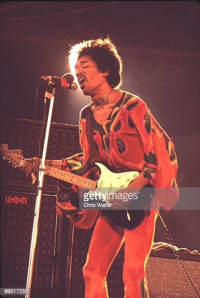 Jimi Hendrix at the Isle of Wight Festival, August 1970