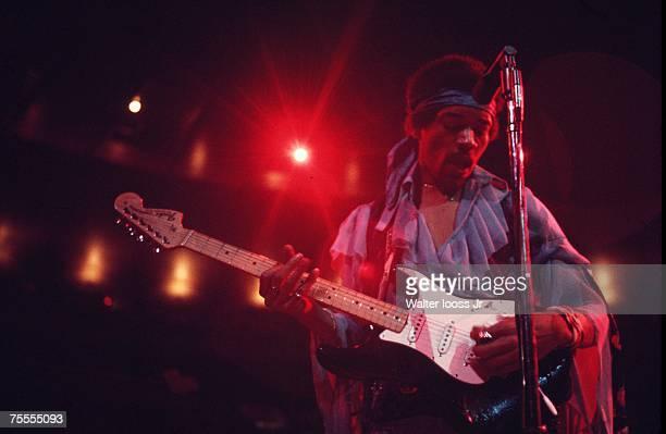 Jimi Hendrix performing at Madison Square Garden New York City 18th May 1969