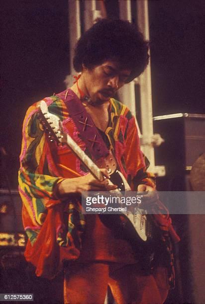 Jimi Hendrix Playing his Last Concert