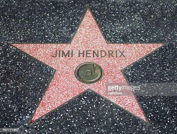 jimi hendrix paseo de la fama de estrellas - jimi hendrix fotografías e imágenes de stock