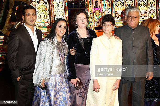 Jimi Mistry Ila Arun Linda Bassett Aqib Khan and Om Puri attend the premiere of West Is West at the 54th BFI London Film Festival held at The Vue...