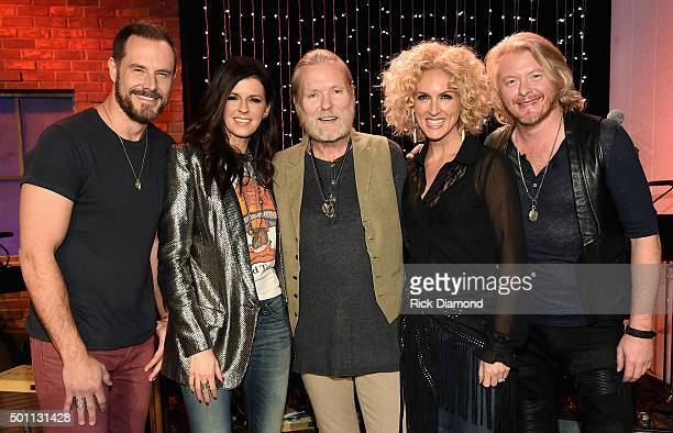 Jimi Westbrook and Karen Fairchild of Little Big Town recording artist Gregg Allman and Kimberly Schlapman and Philip Sweet of Little Big Town pose...