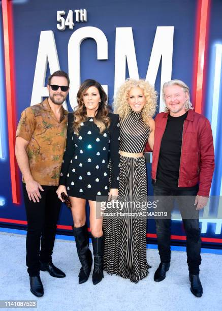 Jimi Westbrook Karen Fairchild Kimberly Schlapman and Philip Sweet of Little Big Town attend the 54th Academy Of Country Music Awards at MGM Grand...