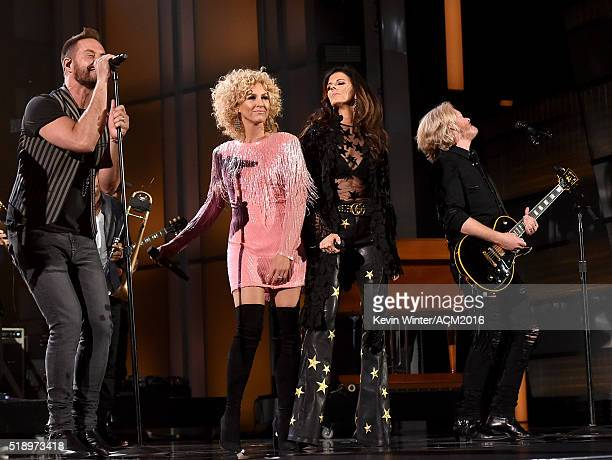 Jimi Westbrook Karen Fairchild Kimberly Schlapman and Philip Sweet of Little Big Town perform onstage during the 51st Academy of Country Music Awards...