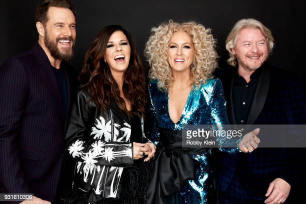 Jimi Wesstbrook Karen Fairchild Kimberly Schlapman and Philip Sweet of Little Big Town pose for a portrait at the 60th Annual GRAMMY Awards I'm Still...
