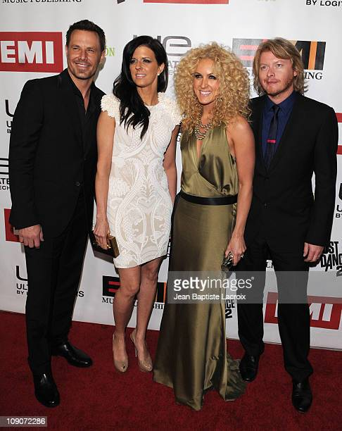 Jimi Westbrook Karen Fairchild Kimberly Schlapman and Phillip Sweet of Little Big Town arrive at The 2011 EMI Grammys After Party held at Milk...