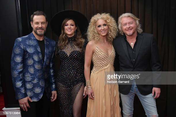 Jimi Westbrook Karen Fairchild Kimberly Schlapman and Phillip Sweet of Little Big Town attend the 61st Annual GRAMMY Awards at Staples Center on...