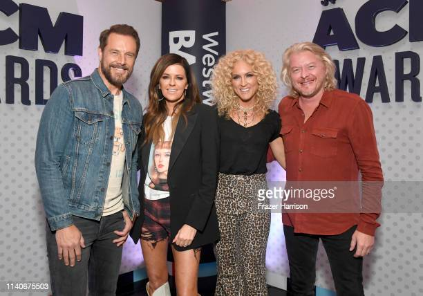 Jimi Westbrook Karen Fairchild Kimberly Schlapman and Phillip Sweet of Little Big Town attend the 54th Academy Of Country Music Awards...