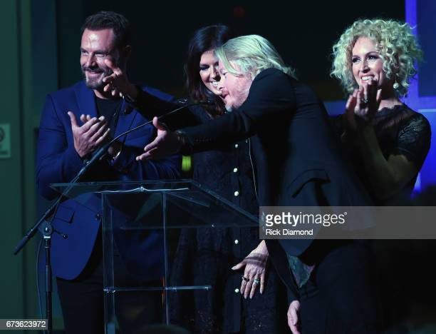Jimi Westbrook Karen Fairchild Phillip Sweet and Kimberly Schlapman of Little Big Town during 2017 CMA Music Teachers Of Excellence Dinner at Nissan...