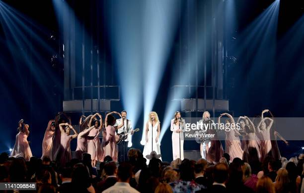 Jimi Westbrook Kimberly Schlapman Karen Fairchild and Philip Sweet of Little Big Town perform onstage during the 54th Academy Of Country Music Awards...