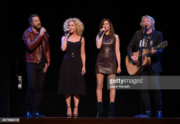 Jimi Westbrook Kimberly Schlapman Karen Fairchild and Philip Sweet of Little Big Town attend the 2018 Symphony Fashion Show at Schermerhorn Symphony...