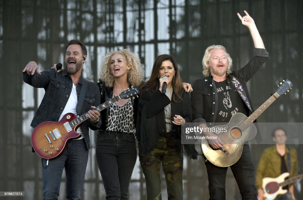 Jimi Westbrook, Kimberly Schlapman, Karen Fairchild, and Phillip Sweet of Little Big Town perform during the 2018 Country Summer Music Festival at Sonoma County Fairgrounds on June 16, 2018 in Santa Rosa, California.