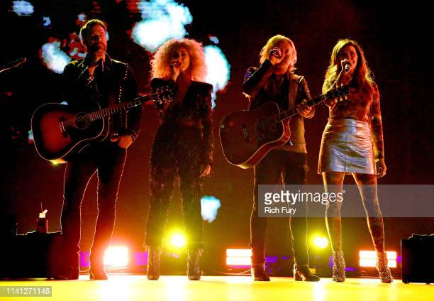 Jimi Westbrook Kimberly Schlapman Phillip Sweet and Karen Fairchild of Little Big Town perform onstage during the 2019 iHeartCountry Festival...