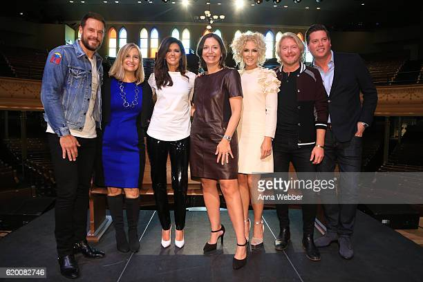 Jimi Westbrook of Little Big Town Mayor Megan Barry Karen Fairchild of Little Big Town Ryman Auditorium general manager Sally Williams Kimberly...
