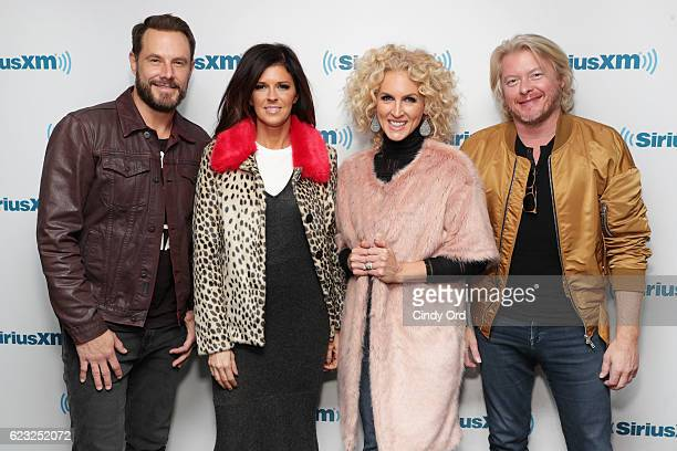 Jimi WestbrookKaren Fairchild Kimberly Schlapman and Phillip Sweet of Little Big Town visit the SiriusXM Studios on November 14 2016 in New York City