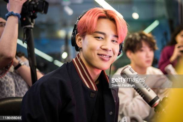 Jimin and Jungkook of BTS visit The Elvis Duran Z100 Morning Show at Z100 Studio on April 12 2019 in New York City