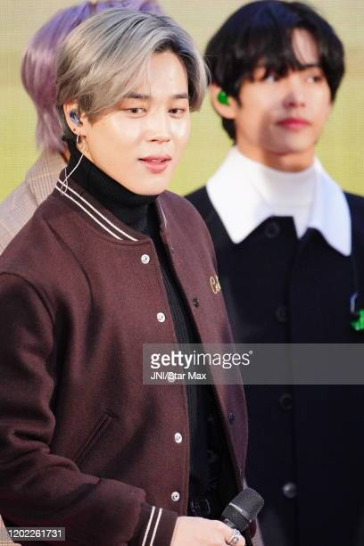 Jimin and Kim Taehyung are seen on February 21 2020 in New York City