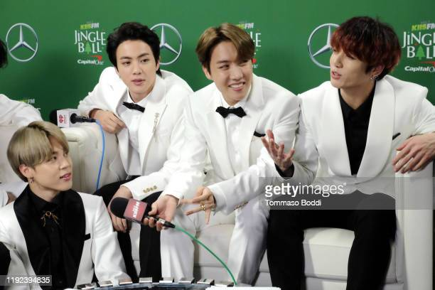 Jimin, Jin, SUGA, and Jungkook of BTS attend 102.7 KIIS FM's Jingle Ball 2019 Presented by Capital One at the Forum on December 6, 2019 in Los...
