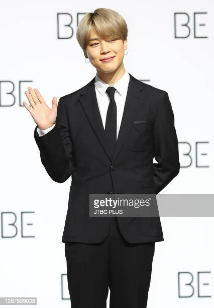 Jimin of BTS during BTS's new album 'BE ' release press conference at Dongdaemun Design Plaza on November 20, 2020 in Seoul, South Korea.