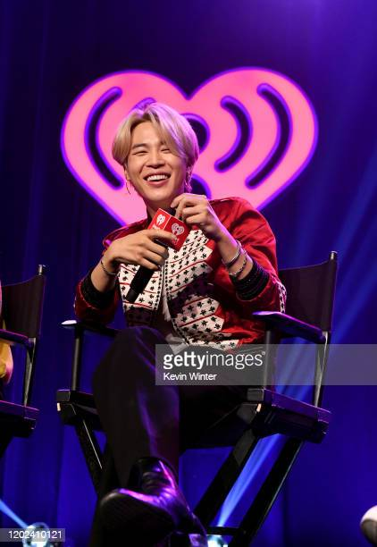 Jimin of BTS onstage at iHeartRadio LIVE with BTS presented by HOT TOPIC at iHeartRadio Theater on January 27 2020 in Burbank California