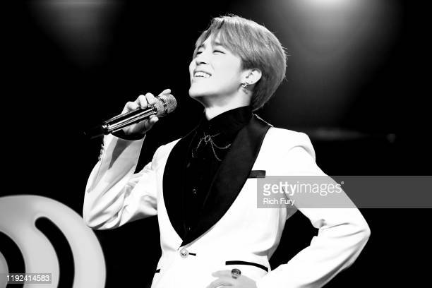 Jimin of BTS performs onstage during 1027 KIIS FM's Jingle Ball 2019 Presented by Capital One at the Forum on December 6 2019 in Los Angeles...