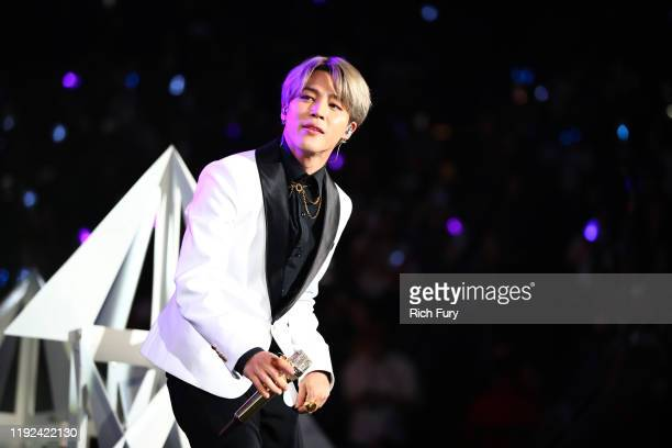 Jimin of BTS performs onstage during 102.7 KIIS FM's Jingle Ball 2019 Presented by Capital One at the Forum on December 6, 2019 in Los Angeles,...