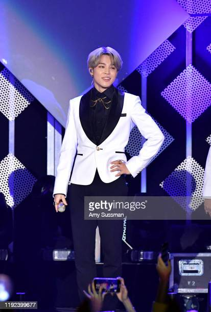 Jimin of BTS performs onstage during KIIS FM's Jingle Ball 2019 presented by Capital One at The Forum on December 06 2019 in Inglewood California