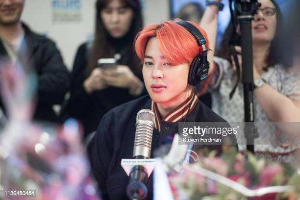 Jimin of BTS visits The Elvis Duran Z100 Morning Show at Z100 Studio on April 12 2019 in New York City