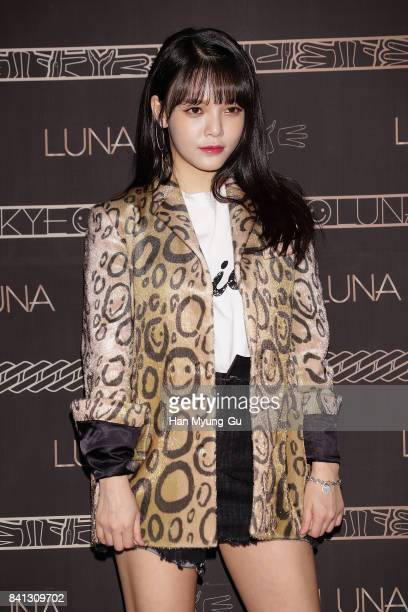 Jimin of South Korean girl group AOA attends the LUNA LUNA X KYE Collaboration Collection Photocall on August 31 2017 in Seoul South Korea