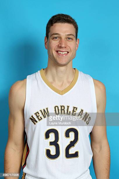Jimmer Fredette of the New Orleans Pelicans poses for a head shot on November 10 2015 at the Smoothie King Center in New Orleans Louisiana NOTE TO...