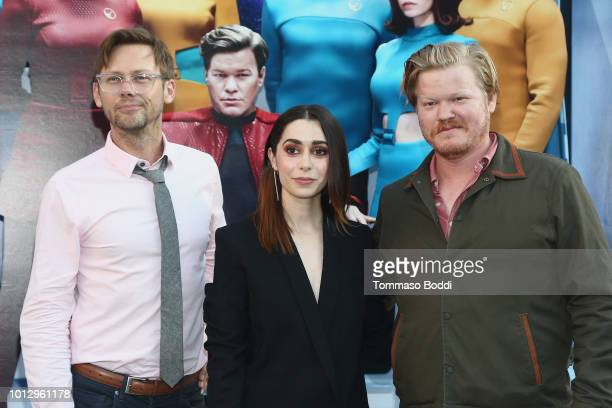 Jimmi Simpson Cristin Milioti and Jesse Plemons attend the Netflix's USS Callister Special Reveal Photo Call on August 7 2018 in West Hollywood...