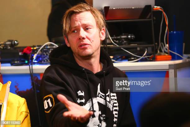Jimmi Simpson speaks onstage during the '20 Years Still Unsolved' Panel presented by USA Network UNSOLVED THE MURDERS OF TUPAC AND THE NOTORIOUS BIG...