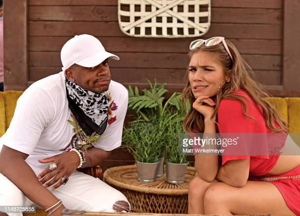 Jimmie Allen and Abby Anderson pose for a portrait during the 2019 Stagecoach Festival at Empire Polo Field on April 28 2019 in Indio California