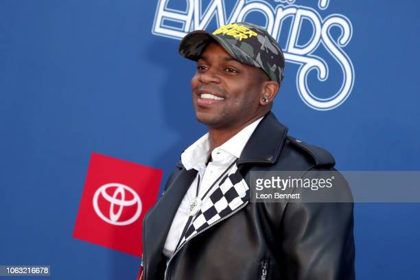 Jimmie Allen attends the 2018 Soul Train Awards presented by BET at the Orleans Arena on November 17 2018 in Las Vegas Nevada