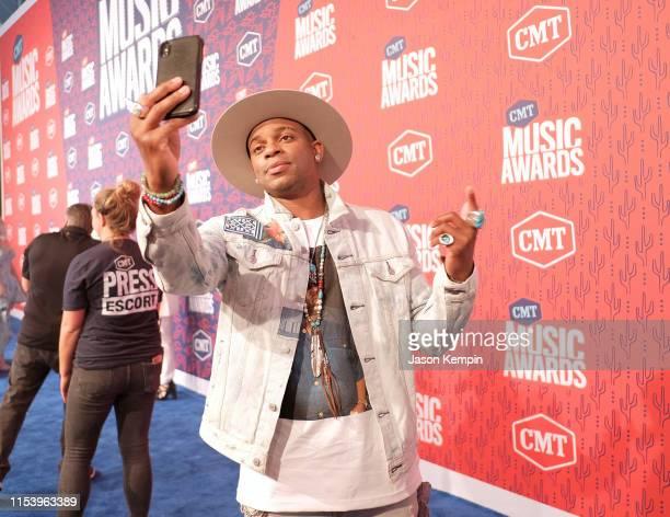Jimmie Allen attends the 2019 CMT Music Award at Bridgestone Arena on June 05 2019 in Nashville Tennessee