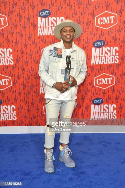 Jimmie Allen attends the 2019 CMT Music Awards at Bridgestone Arena on June 05, 2019 in Nashville, Tennessee.