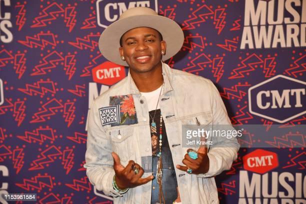 Jimmie Allen attends the 2019 CMT Music Awards at Bridgestone Arena on June 05 2019 in Nashville Tennessee