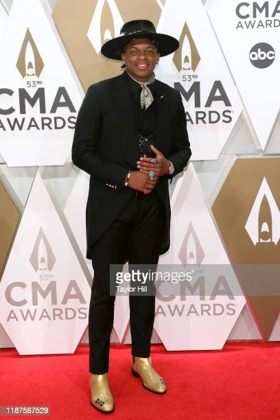 Jimmie Allen attends the 53nd annual CMA Awards at Bridgestone Arena on November 13, 2019 in Nashville, Tennessee.
